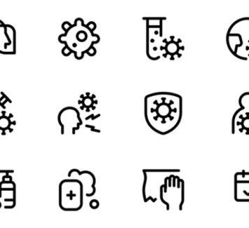 140 бесплатных иконок Covid