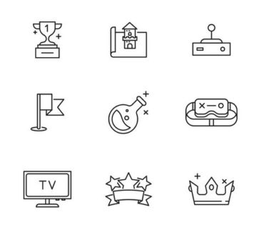 20 игровых векторных иконок