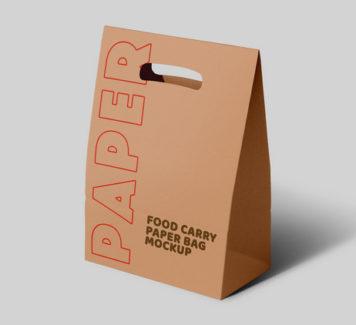 Мокап бумажной сумки