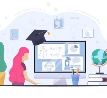 Векторные иллюстрации домашнего обучения