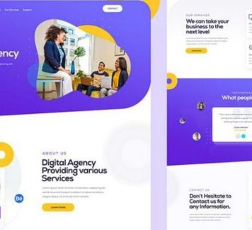 Шаблон креативного дизайн-агентства